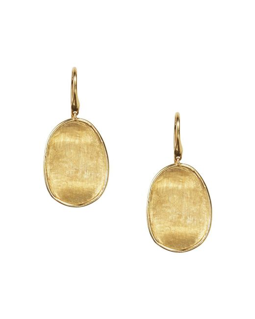 Marco Bicego   Metallic 18k Yellow Gold Lunaria Drop Earrings   Lyst