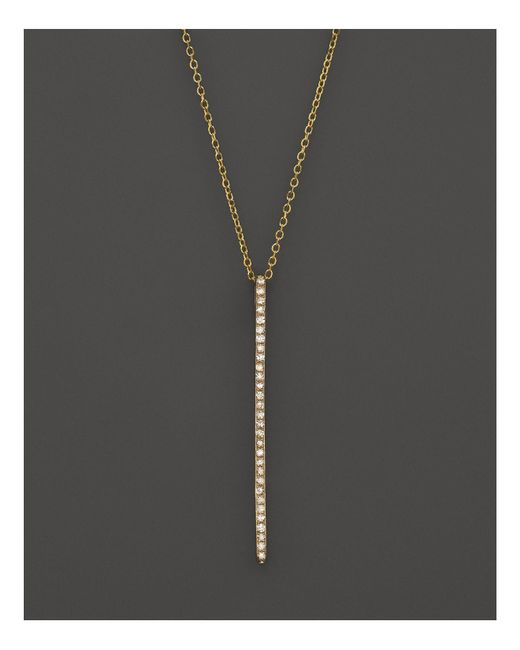KC Designs | Metallic Diamond Stick Pendant Necklace In 14k Yellow Gold, .10 Ct. T.w. - 100% Exclusive | Lyst