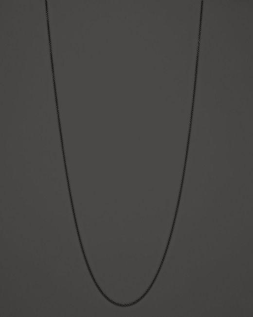 """Monica Rich Kosann   Black Steel Cable Chain, 32""""   Lyst"""