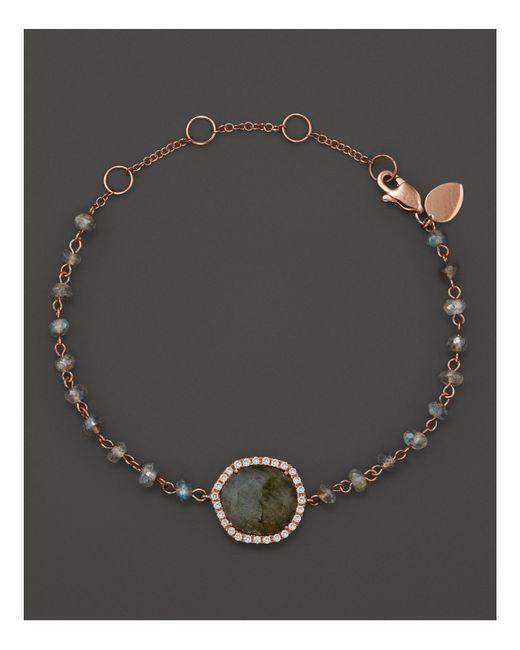 Meira T   Multicolor 14k Rose Gold Labradorite Bead Bracelet   Lyst