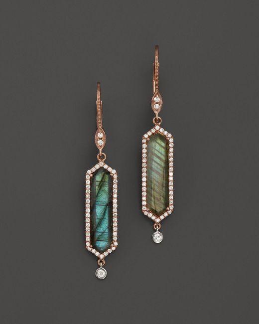 Meira T | Pink 14k Rose Gold Labradorite Drop Earrings | Lyst
