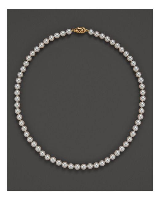 Tara Pearls   Metallic 16''   Lyst