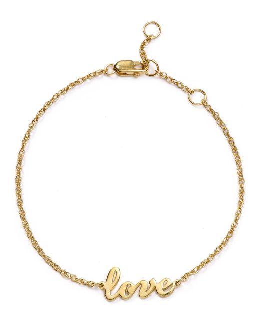 Jennifer Zeuner | Metallic Addison Cursive Love Bracelet | Lyst