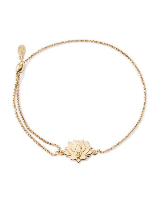 ALEX AND ANI | Metallic Precious Metals Symbolic Lotus Peace Petals Pull Chain Bracelet | Lyst
