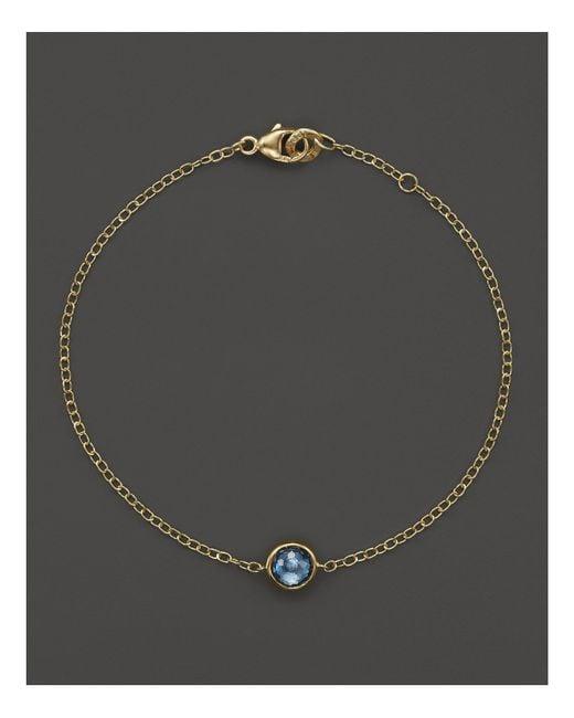 Ippolita | Metallic 18k Gold Mini-lollipop Bracelet In London Blue Topaz | Lyst