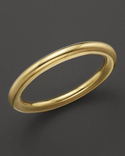 Ippolita   Metallic 18k Gold Glamazon Large Tube Bangle   Lyst