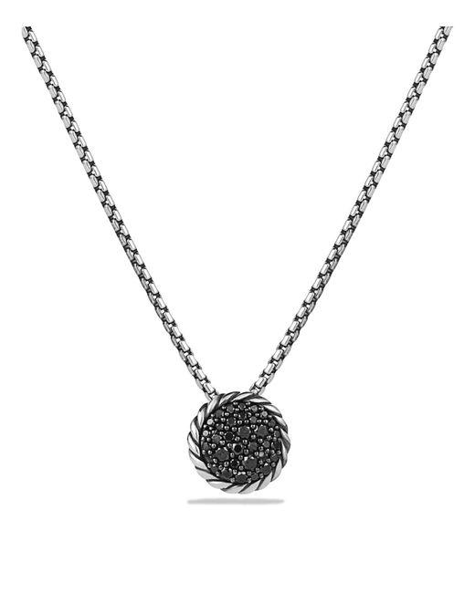 David Yurman   Metallic Châtelaine Pavé Pendant Necklace With Black Diamonds   Lyst