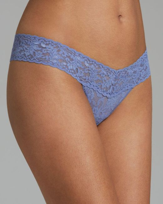 Hanky Panky   Blue Low-rise Thong   Lyst
