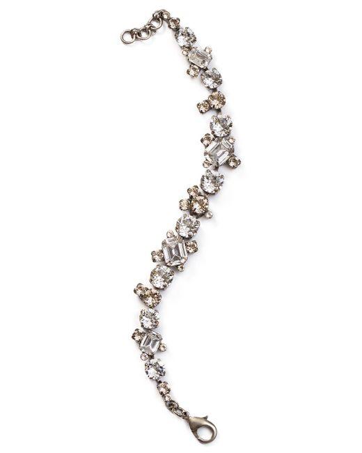 Sorrelli | Metallic Crystal Tennis Bracelet | Lyst