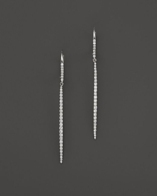 Meira T | 14k White Gold Diamond Icicle Drop Earrings | Lyst