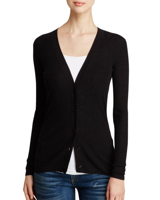 Theory | Black Sweater - Orhila Cardigan | Lyst
