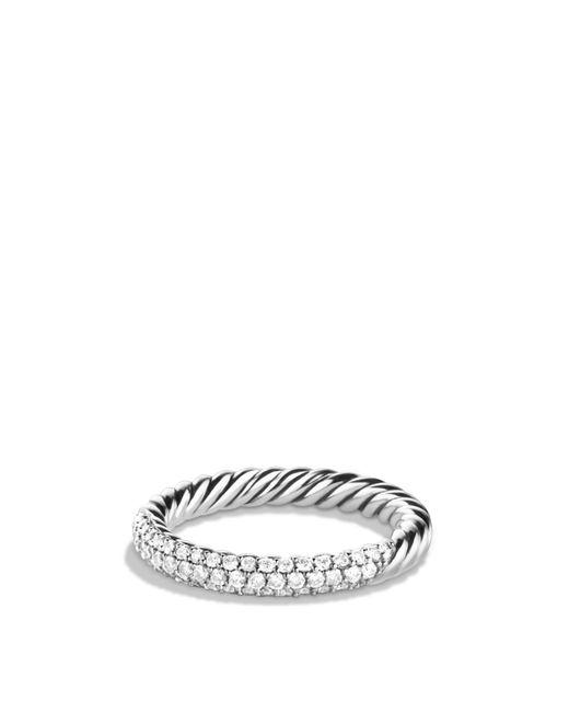 David Yurman   Metallic Petite Pavé Ring With Diamonds   Lyst