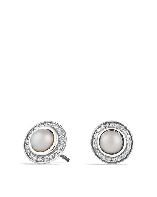David Yurman | White Cerise Mini Earrings With Pearls And Diamonds | Lyst