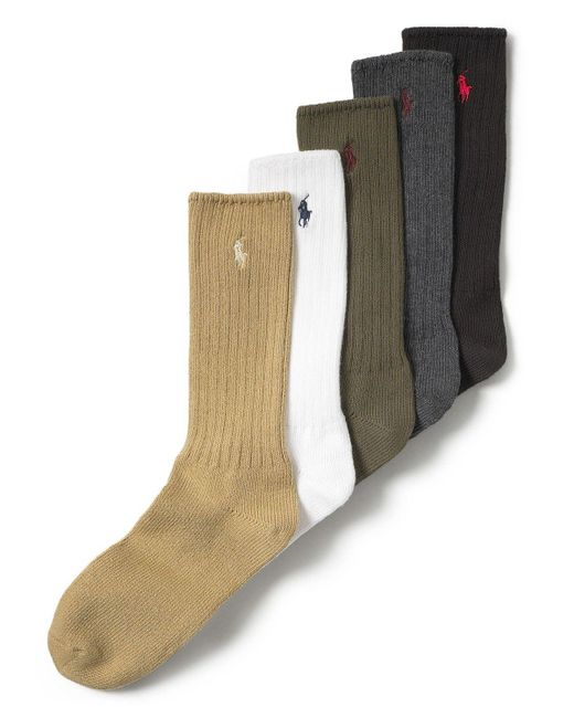 Polo Ralph Lauren | Green Men's Stretch Cotton Socks for Men | Lyst