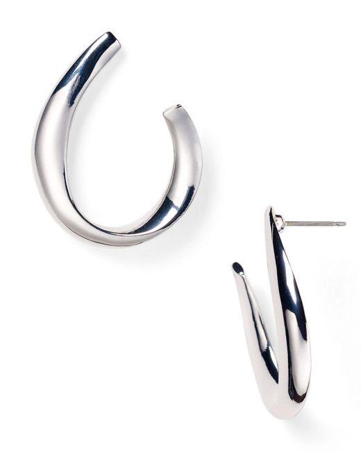 Pink Pony   Metallic Lauren Sculptural Hoop Earrings   Lyst