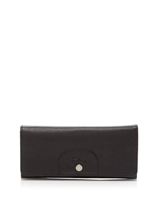 Longchamp | Black Wallet - Pliage Continental | Lyst