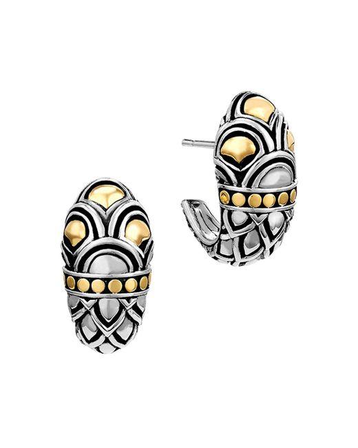 John Hardy   Metallic Sterling Silver & 18k Gold Naga Shrimp Earrings   Lyst