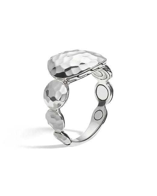 John Hardy | Metallic Women's Sterling Silver Palu Large Round Disc Ring | Lyst