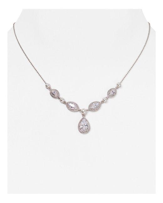 "Nadri | Metallic Teardrop Pendant Necklace, 16"" | Lyst"