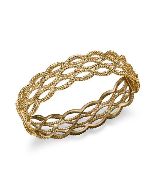 Roberto Coin | Metallic 18k Yellow Gold Triple Row Twisted Bangle | Lyst