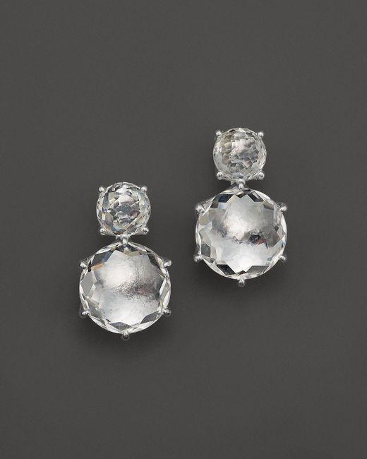 Ippolita | White Rock Candy 2 Stone Earrings In Clear Quartz | Lyst