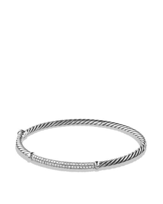 David Yurman | Metallic Petite Pavé Bracelet With Diamonds | Lyst