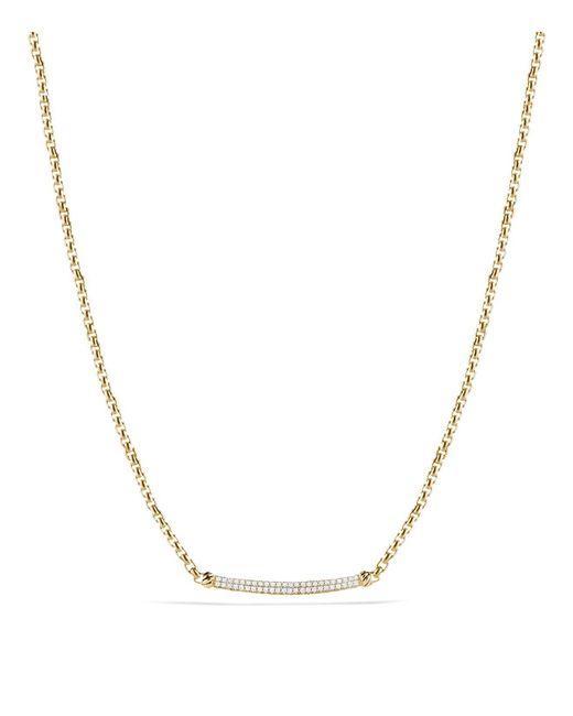 David Yurman | Metallic Petite Pavé Metro Chain Necklace With Diamonds In Gold | Lyst
