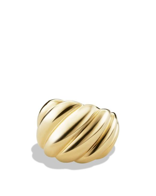 David Yurman | Metallic Hampton Cable Ring In Gold | Lyst
