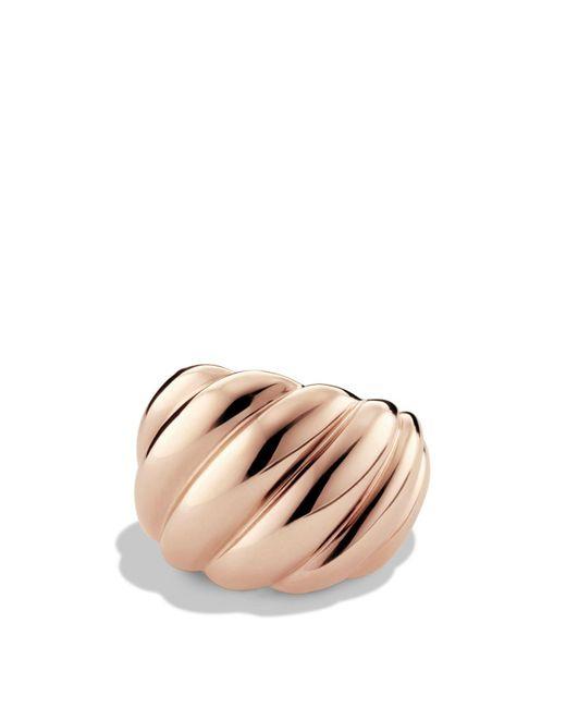 David Yurman | Pink Hampton Cable Ring In Rose Gold | Lyst