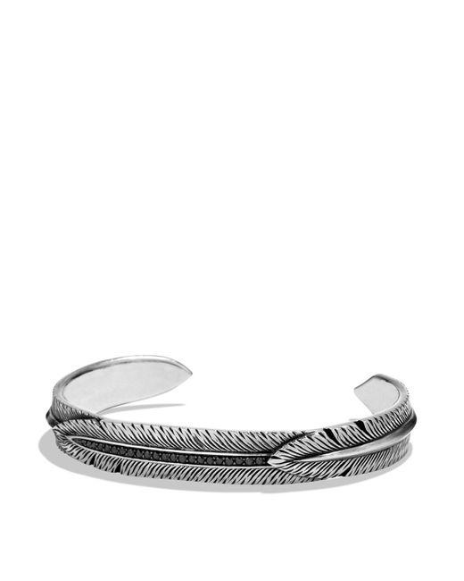 David Yurman | Frontier Feather Wrap Cuff Bracelet With Black Diamonds | Lyst