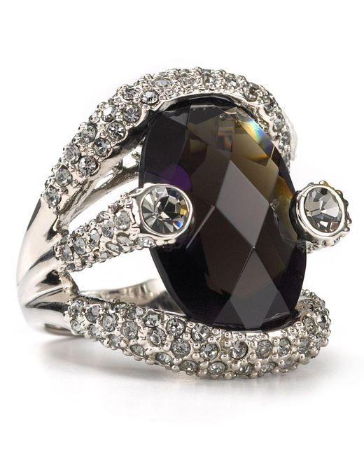 ABS By Allen Schwartz   Black Women's Large Stone Pave Ring   Lyst