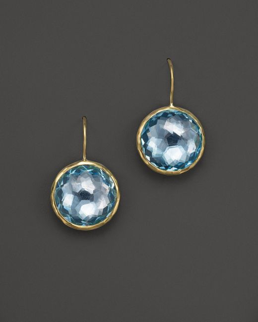 Ippolita | 18k Lollipop Medium Round Earrings In Blue Topaz | Lyst