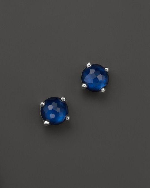 Ippolita | Blue Rock Candy® Mini Stud Earrings In Midnight | Lyst