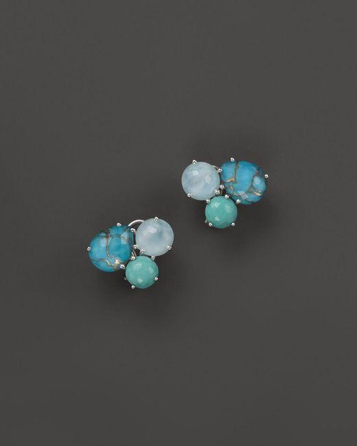 Ippolita | Sterling Silver Rock Candy Cluster Stud Earrings In Blue Multi | Lyst