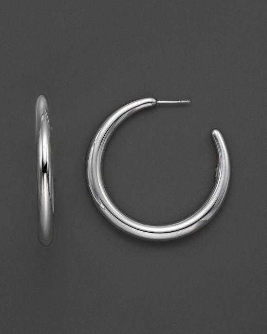 Ippolita | Metallic Sterling Silver Glamazon #3 Hoop Earrings | Lyst