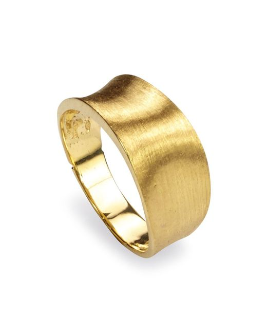 Marco Bicego | Metallic 18k Yellow Gold Engraved Lunaria Small Band Ring | Lyst