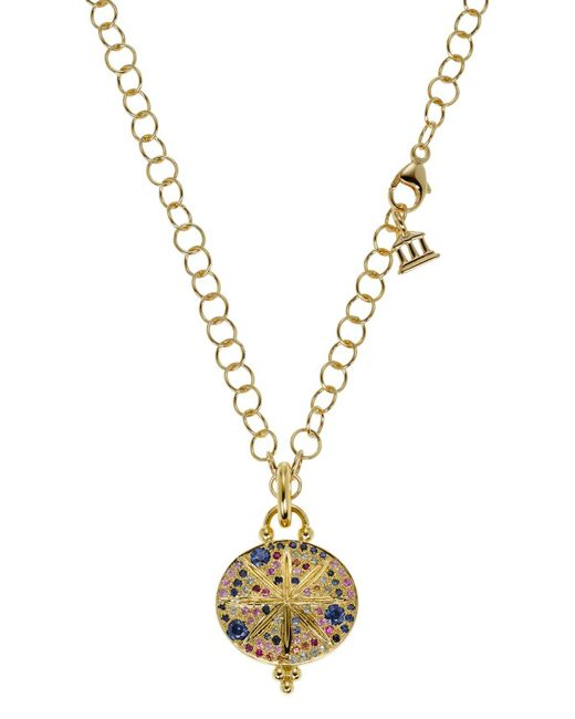 Temple St. Clair   Blue 18k Yellow Gold Sorcerer Pendant With Mixed Sapphires   Lyst