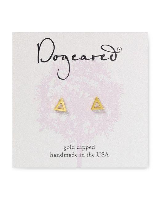 Dogeared | Metallic Open Triangle Stud Earrings | Lyst