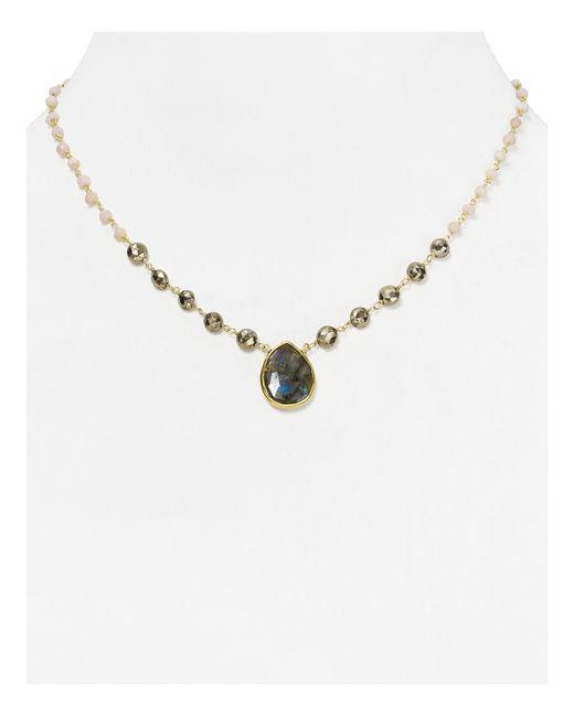 """Ela Rae   Metallic Ara Opal Pendant Necklace, 16.5""""   Lyst"""