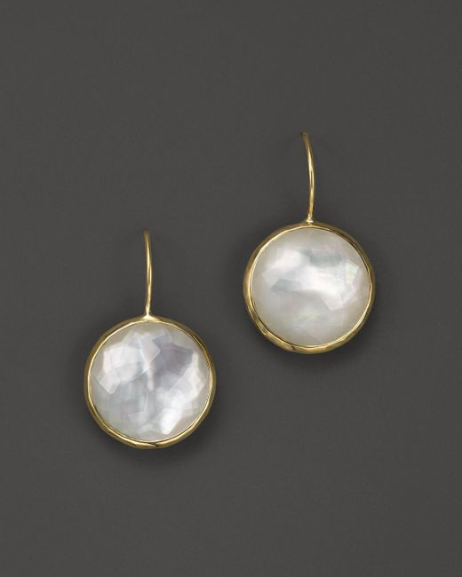 Ippolita | White Lollipop 18k Gold Medium Round Earrings | Lyst