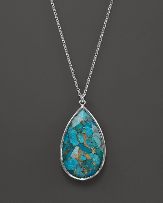 Ippolita | Blue Rock Candy Sterling Silver Elongated Drop Pendant Necklace, 24"
