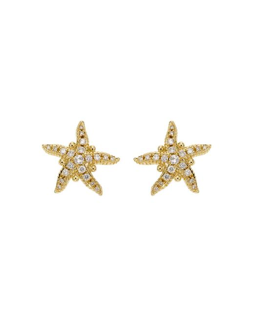 Temple St. Clair | Metallic 18k Yellow Gold Sea Star Earrings With Diamonds | Lyst