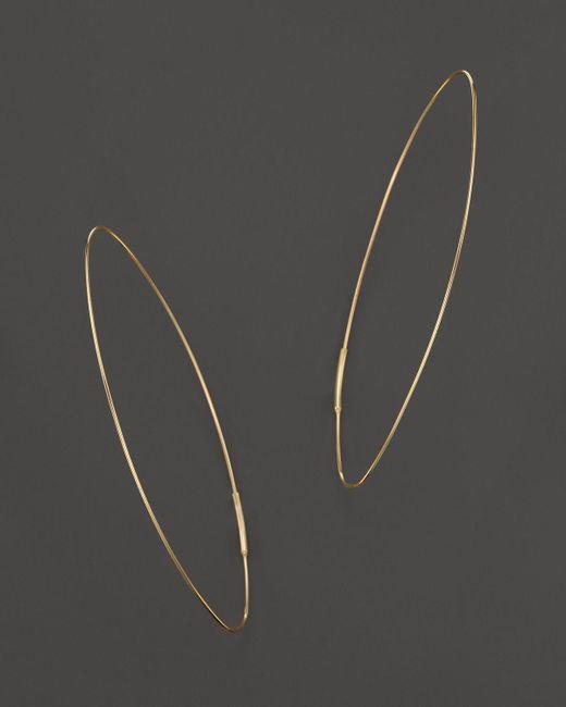 Lana Jewelry   Metallic 14k Yellow Gold Large Straight Magic Hoop Earrings   Lyst