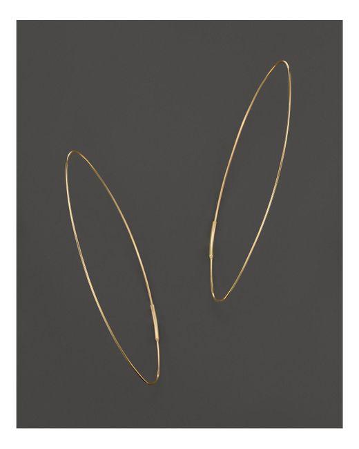 Lana Jewelry | Metallic 14k Yellow Gold Large Straight Magic Hoop Earrings | Lyst
