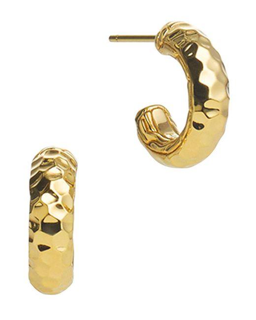 John Hardy | Metallic Palu 18k Gold Small Hoop Earrings | Lyst