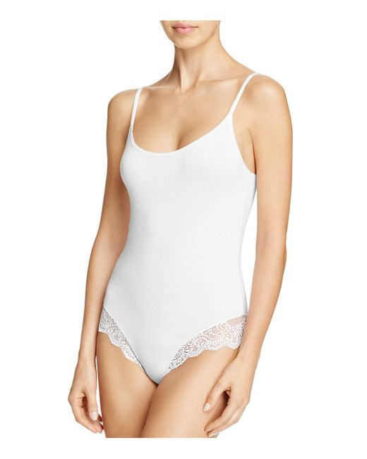 Only Hearts | White So Fine Lace-trim Low-back Bodysuit | Lyst