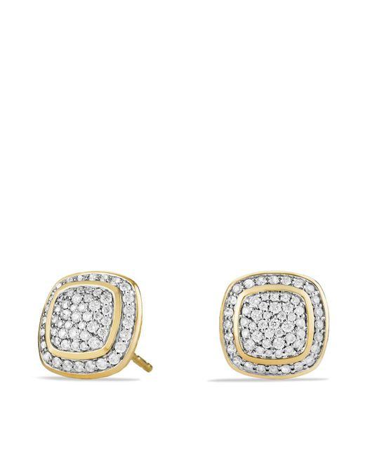 David Yurman | Metallic Albion Earrings With Diamonds In 18k Gold | Lyst