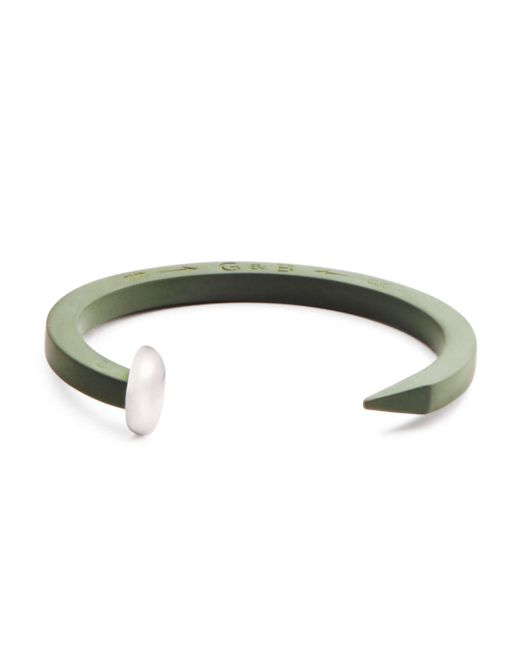 Giles & Brother - Green Rubberized Railroad Spike Cuff for Men - Lyst