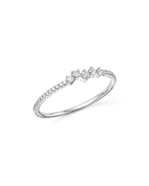 KC Designs - 14k White Gold Mosaic Diamond Stacking Ring - Lyst