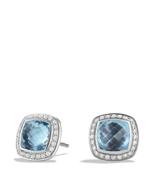 David Yurman | Albion Earrings With Blue Topaz And Diamonds | Lyst